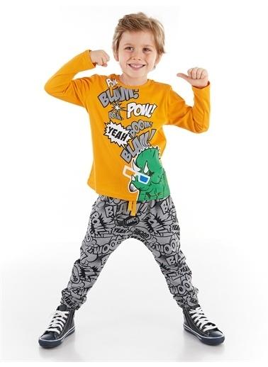 Denokids Pow Dino Erkek Çocuk Pantolon Takım Renkli